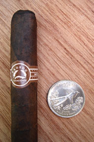Ambassador Maduro with quarter for comparison