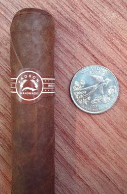 Padron 4000 Natural with quarter for comparison